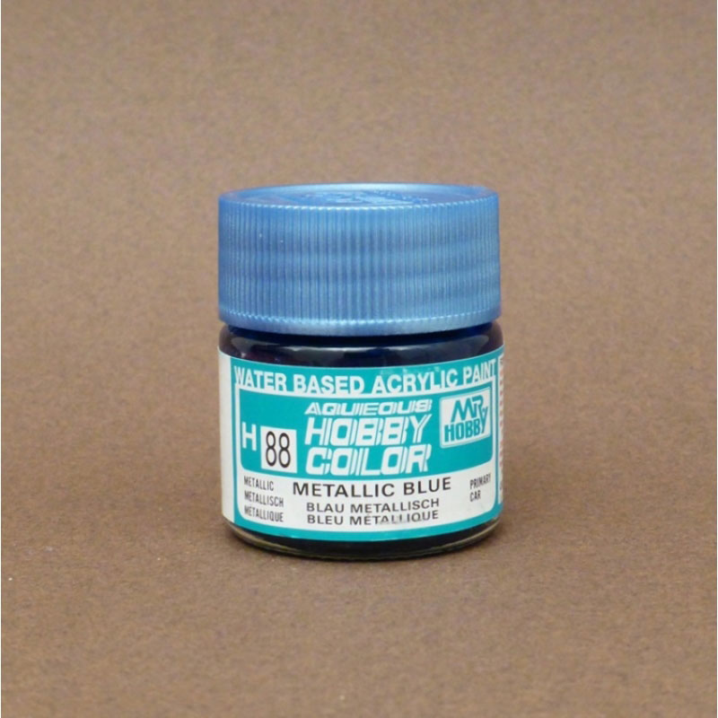 Metallic (Gloss) Metallic Blue - Aqueous/Acrylic Paint 10ml
