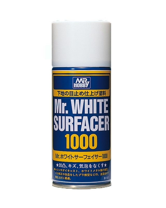 Mr. White Surfacer 1000 Spray Primer (170ml)