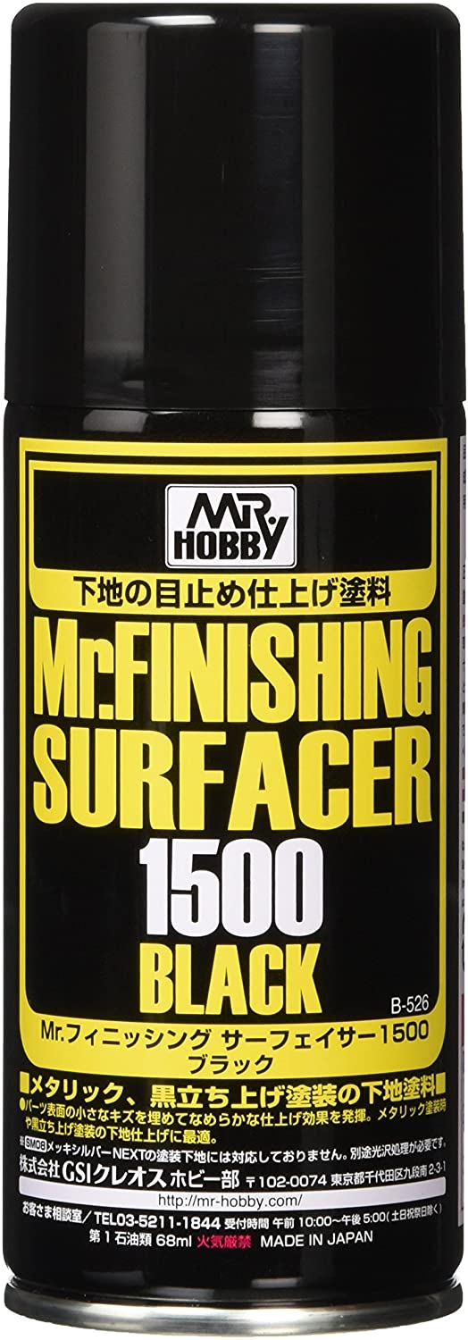 Mr. Finishing  Surfacer 1500  - Black  - 170ml (Spray)