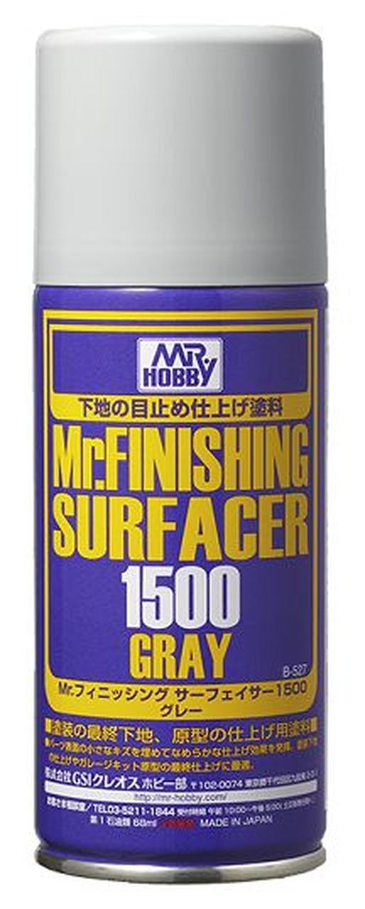 Mr. Finishing Surfacer 1500 - Gray 170ml (Spray)