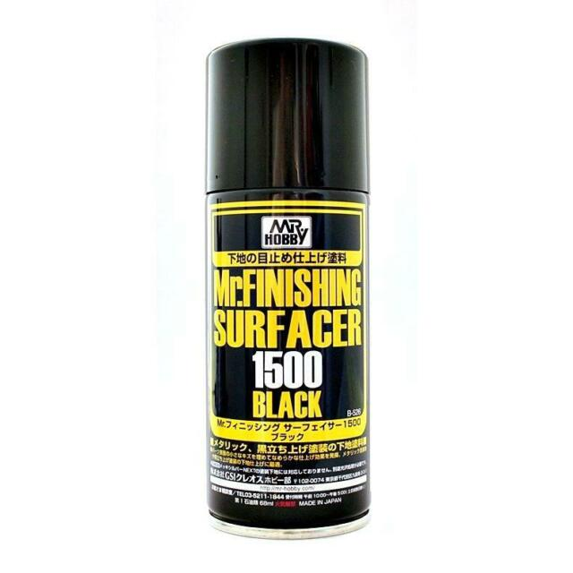 Mr. Finishing Surfacer 1500- Black - Spray - 170ml