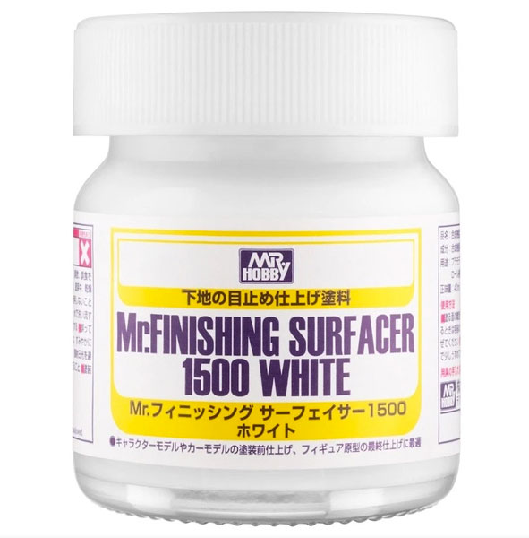 Mr Finishing Surfacer 1500 - White - Brush-On - 40ml