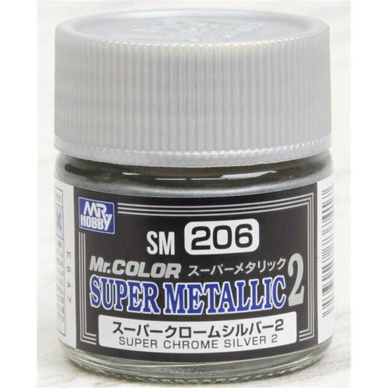 Super Metallic 2 Chrome Silver Lacquer 10ml Bottle