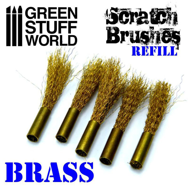 Scratch Brush Set Refill - Brass