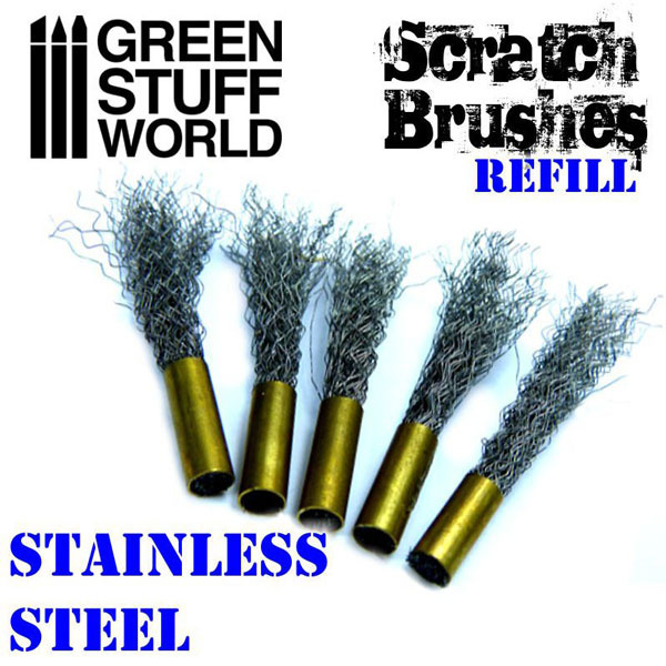 Scratch Brush Pens Refill - Stainless Steel