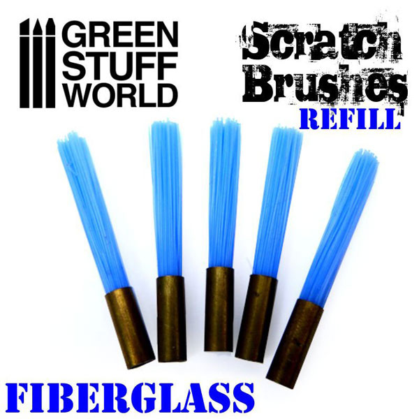 Scratch Brush Set Refill – Fibre Glass