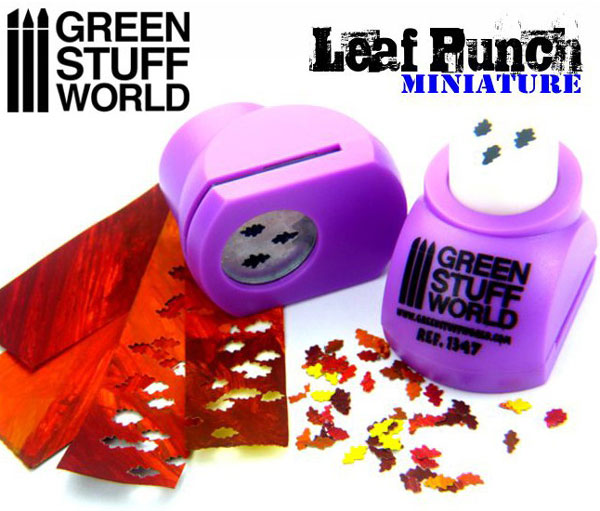 Miniature Leaf Punch - LIGHT PURPLE - Oak