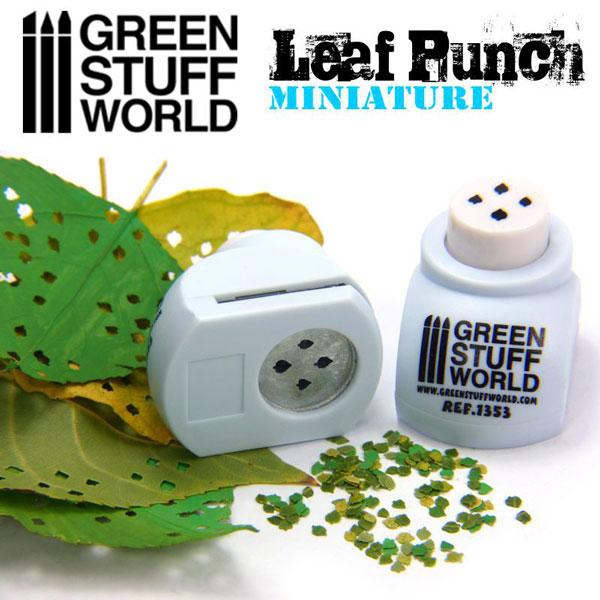 Miniature Leaf Punch - LIGHT BLUE - Lime