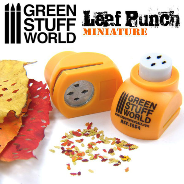 Miniature Leaf Punch - ORANGE - Oak