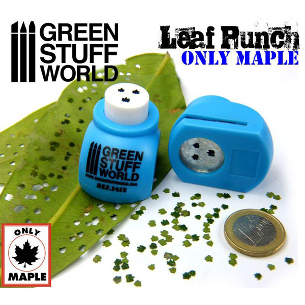 Miniature Leaf Punch - Medium Blue