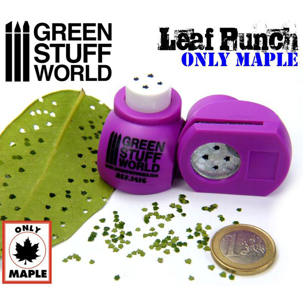 Miniature Leaf Punch - Medium Purple