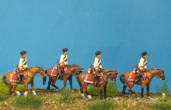 7 Years War: Austrian Cuirassiers Set 3- on Standing Horses