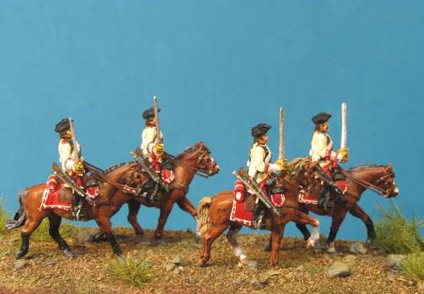 7 Years War: Austrian Cuirassiers Set 6- On the March (Trotting)