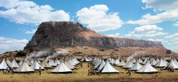Anglo-Zulu War Scenic Backdrop, Isandlwana, 22 January, 1879