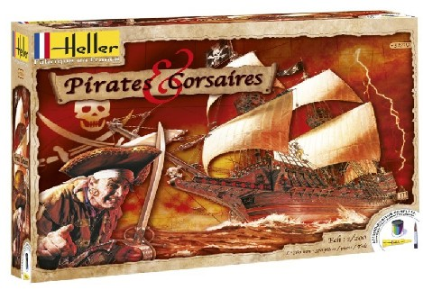Pirates & Corsaires Sailing Ship w/Paint & Glue