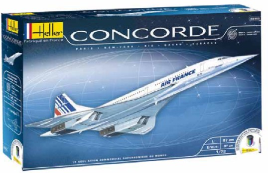 Concorde Air France Commercial Airliner w/Paint & Glue