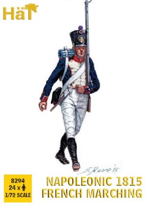 Napoleonic 1815 French Infantry Marching