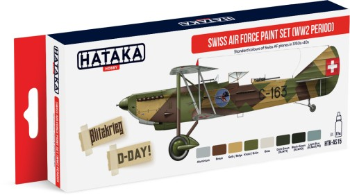 Red Line: WWII Swiss Air Force 1930s-1940s Paint Set (8 Colors) - Optimized For Airbrush - 17ml Bottles ONLY 1 AVAILABLE