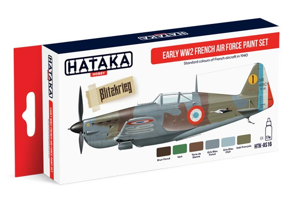 Red Line: Early WWII French Air Force Paint Set (6 Colors) - Optimized For Airbrush - 17ml Bottles
