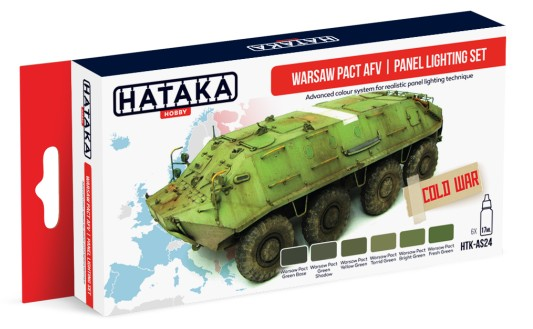 Red Line: Warsaw Pact AFV/Panel Lighting Paint Set (6 Colors) - Optimized For Airbrush - 17ml Bottles