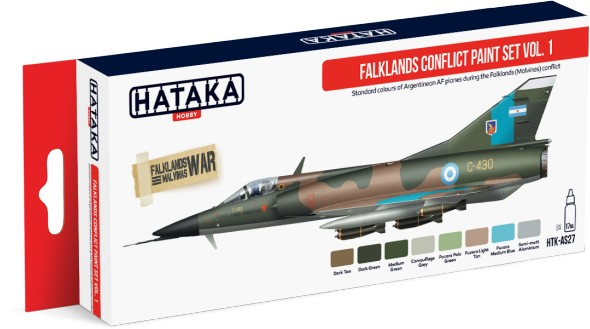 Red Line: Falklands Conflict Argentinean AF Vol.1 Paint Set (8 Colors) - Optimized For Airbrush - 17ml Bottles