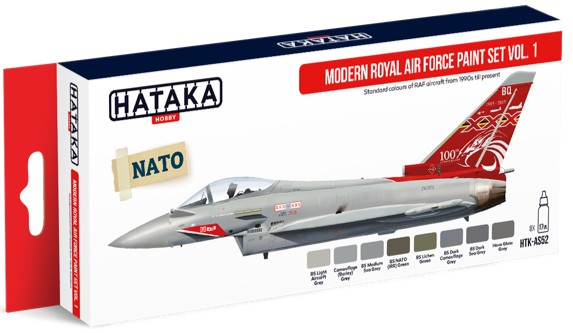 Red Line: Modern Royal Air Force 1990s-Present Vol.1 Paint Set (8 Colors) - Optimized For Airbrush - 17ml Bottles