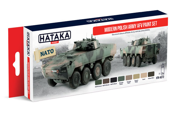 Red Line: Modern Polish Army AFV Since 2000s Paint Set (8 Colors) - Optimized For Airbrush - 17ml Bottles