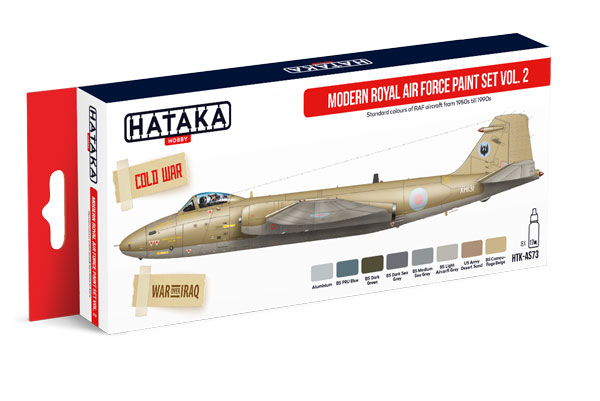 Red Line: Modern Royal Air Force 1950s-1990s Vol.2 Paint Set (8 Colors) - Optimized For Airbrush - 17ml Bottles