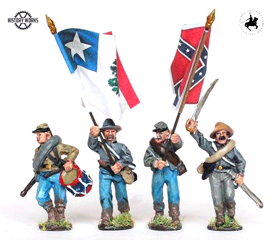 Confederate Command Set Advancing #1