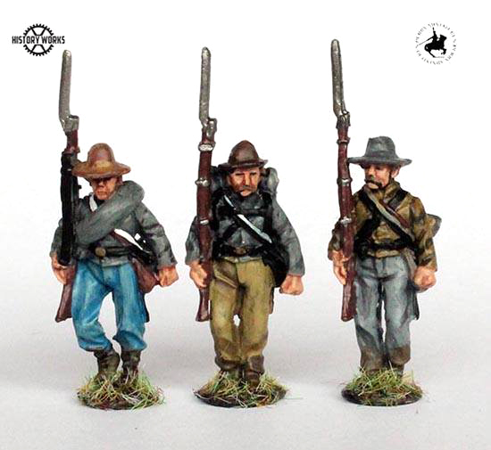 Confederate Infantry Marching Set #2