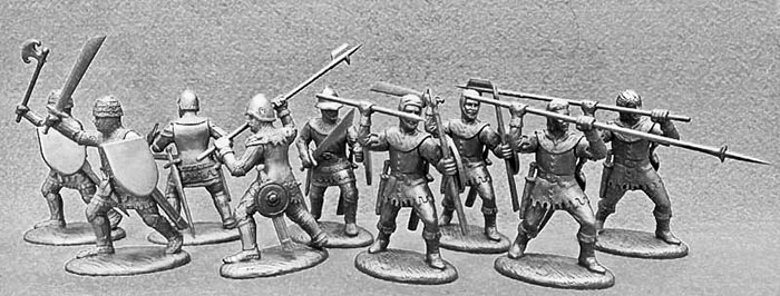14th Century French Army Free Companies in Light Metallic Armor