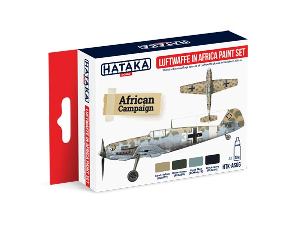 Red Line: Luftwaffe in Africa Camouflage Paint Set (4 Colors) - Optimized For Airbrush - 17ml Bottles