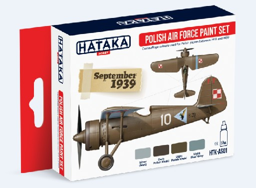Red Line: Polish Air Force 1919-39 Camouflage Paint Set (4 Colors) - Optimised For Airbrush - 17ml Bottles