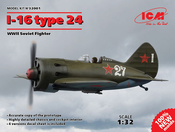WWII Soviet I16 Type 24 Fighter
