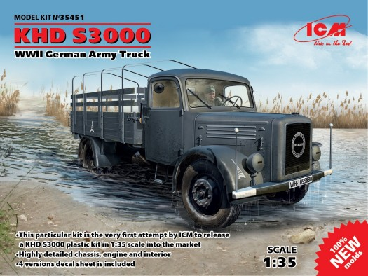 WWII KHD S3000 Germany Army Truck (New Tool)