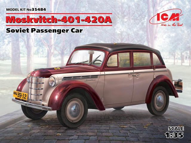 WWII Moskvitch-401-420A, Soviet Passenger Car