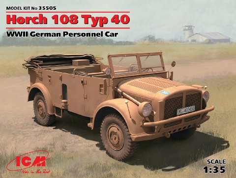 German Horch 108 Type 40 Personnel Car
