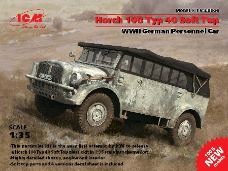 WWII German Horch 108 Type 40 Soft Top Personnel Car