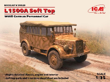 WWII L1500A German Soft Top Personnel Car