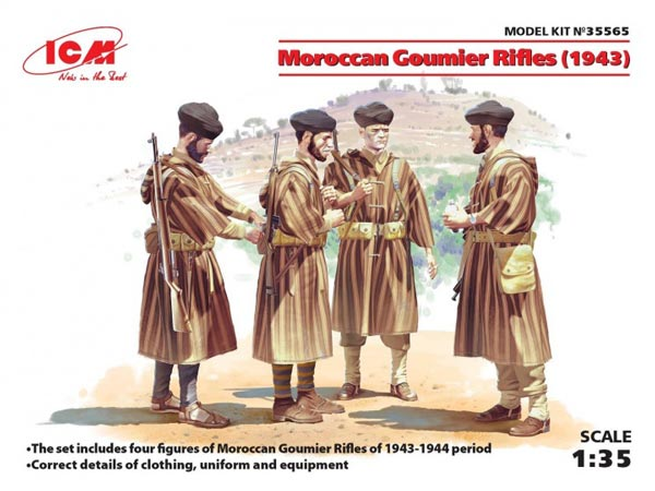 Moroccan Goumier Rifles 1943 Figure Set (3) (New Tool)