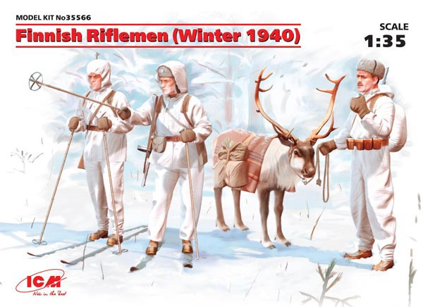 Finnish Riflemen Winter 1940 (3 w/Caribou) (New Tool)