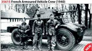 WWII French Armored Vehicle Crew 1940