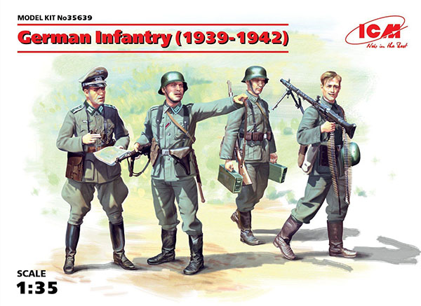 Michigan Toy Soldier Company : ICM Models - WWII German Infantry w