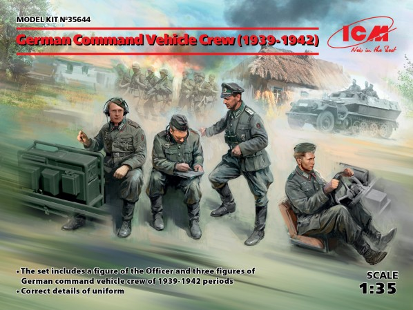 WWII German Command Vehicle Crew 1939-1942 (4)