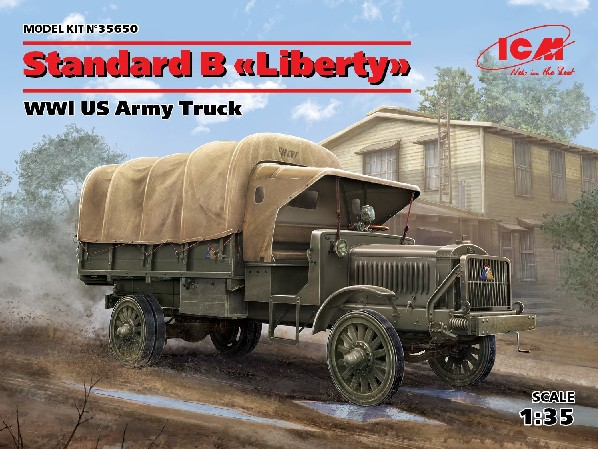 WWI US Standard B Liberty Army Truck w/Canvas-Type Cover