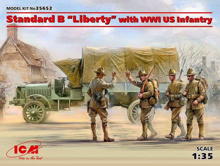 Standard B Liberty Truck with WWI US Infantry