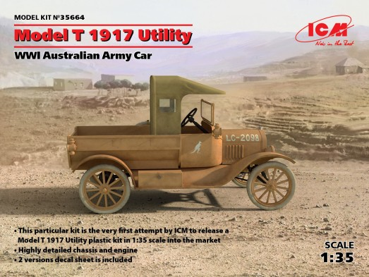 WWI Australian Model T 1917 Utility Army Car