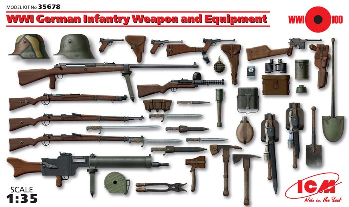 WWI German Infantry Weapons & Equipment