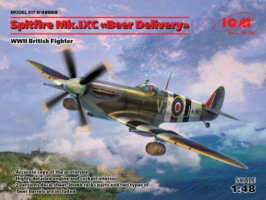 WWII British Spitfire Mk IXC Beer Delivery Fighter