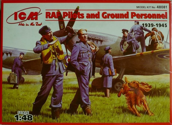 WWII RAF Pilots & Ground Personnel w/Dog 1939-1945